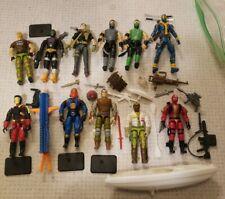 "Vintage GI JOE Lot of 11  Action Figure 3.75"" Hasbro Mortal Kombat & Accessories"