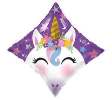 Set of 2 Diamond UNICORN Magical Pegasus Fairy Foil Balloon Free Shipping