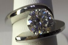 Steven Kretchmer PT Wing-L Remount Ring For 2.50ct Rnd CZ Shiny Serial #1461