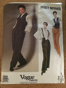 VOGUE ISSEY MIYAKE Pattern 2522 6,8,10 Misses Vest/Shirt/Pants Partial Cut to 10