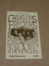 Chambers Brothers/Mother Earth/Country Weather 1968 San Francisco Concert Ticket