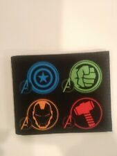 Avengers Wallet Marvel Comics  Icon Bifold Black PU Leather Buckle Down
