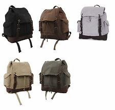 vintage style expedition backpack canvas rucksack rothco 8744