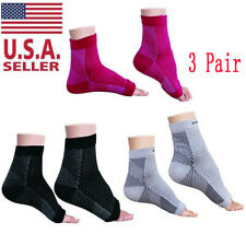 3 Pairs Plantar Fasciitis Foot Compression Socks with Ankle Brace & Arch Support