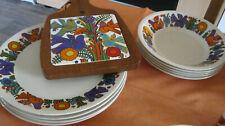 Villeroy Boch Acapulco Luxembourg Porzellan Suppenteller 20 cm 5 Stück