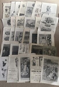 JOB LOT OF EPHEMERA FROM THE 1800'S - THE GRAPHIC, THE SKETCH, ETC...