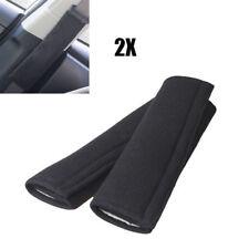 2 pcs Black Cotton Car Safety Seat Belt Shoulder Pads Cover Cushion Harness Pad
