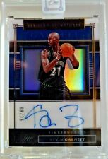 KEVIN GARNETT 2019-20 One and One 1st Team Signatures Encased Auto 8/25 Rare