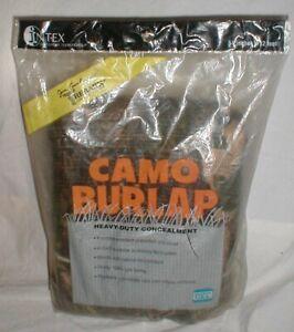 "Intex Jim Crumley's Trebark Camo Oakbrush Camouflage Burlap Material 54"" x 12'"