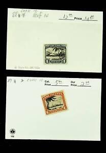 COOK ISLANDS 4d + 6d 2v MH STAMP SC #88-89 CV $17
