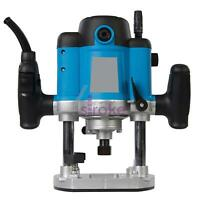"Heavy Duty 1500W 1/2"" Plunge Router Cutter Electric"