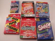 Game Lot of 6 Angry Birds, Scrabble Slam, Swap, Rock Paper Scissors, Quelf & SUV