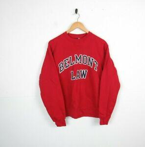 Vintage Retro American College University Graphic Roundneck Sweatshirt 90s | S