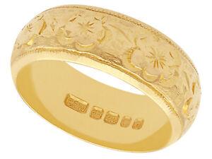 22k Yellow Gold Wedding Band Vintage 1968