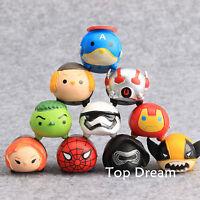 10pcs The Avengers Captain America Spierman Star Wars Tsum PVC Action Figure Toy