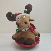 Pan Asian Creations Christmas Reindeer on Sled with Hat Sings and Dances Working