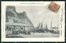 Cagliari Miniera di Buggerru PIEGHINE cartolina XB3351