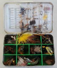 Vintage Perrine #91 Fly Fishing Box W/108 Flies