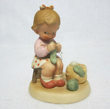 Enesco Memories of Yesterday 'Knitting You A Warm and Cozy Winter' Lucie Attwell