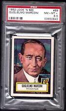 1952 LOOK 'N SEE GUGLIELMO MARCONI INVENTOR #69 NM-MT+ PSA 8.5 POP 2 DEAD CENTER
