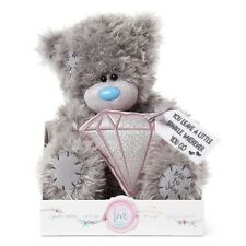 """NEW 9""""Me to You Tatty Teddy Bear Holding A Padded Diamond Plush For Any Occasion"""