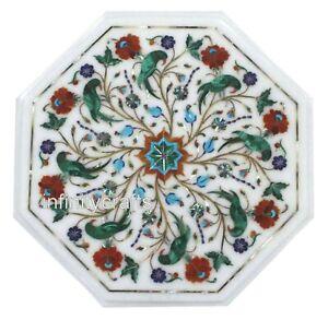 Marmor Kaffee Tischplatte Blumen Design Eingelegt Ecke Tisch Für Wohndeko