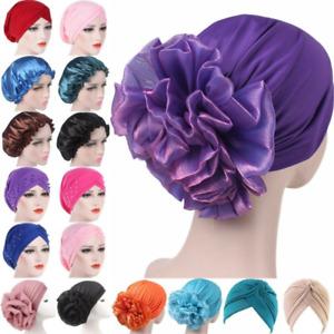 Muslim Women Hat Scarf Cancer Chemo Hair Turban Loss Cap Flower Hijab Head Wrap