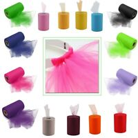 """Tutu Tulle Roll 6"""" x 100 Yards for Wedding Party Decoration Gift Wrap Craft Bow"""