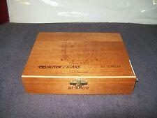 WOODEN CIGAR BOX/ COMPANIA De TABACOS De LAS ANTILLAS, S.A/ REPUBLICA DOMINICANA