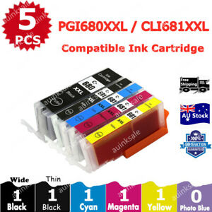 5x Ink Cartridge PGI-680 CLI-681 XXL For Canon TS8160 TS8260 TS8360 TS9160 6360