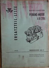Massey Fergusson Ersatzteilliste für Perkins Motor 4 A 270