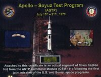 Apollo-Soyuz Flown in Space - Piece of Gold Kapton Foil From the  Command Module