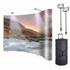 8ft Portable Display Trade Show Booth Exhibit Black Pop Up Kit Spotlights gpu#1
