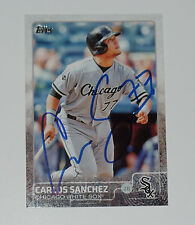 CARLOS YOLMER SANCHEZ SIGNED AUTO'D 2015 TOPPS CARD #615 CHICAGO WHITE SOX VZ