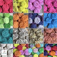12 SUGAR ROSES Edible Flowers Wedding Cake Cupcake Decorations Toppers Birthday