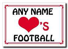 Love Heart Football Personalised Jumbo Magnet