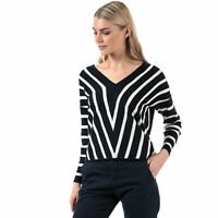 Womens Only Womens Aya V-Neck Jumper in Navy - 4