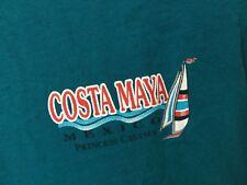 COSTA MAYA Mexico T-Shirt Medium Teal (2-Sided) Princess Cruises