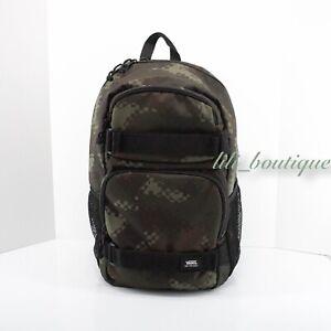NWT Vans Unisex Skateboard Pack Backpack Laptop Bag VN0A46NCT85 Camo Green Multi