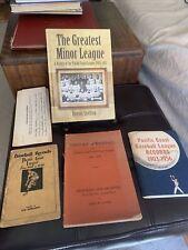 The Pacific Coast League 4 Books California Baseball History. Rare