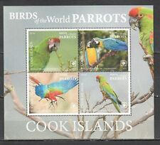 NW0411 2019 !!! SALE COOK ISLANDS FAUNA BIRDS PARROTS MICHEL 95 EURO BL276 MNH