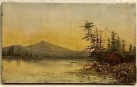 Circa 1870S American School Lake George Hudson River School Original OilPainting