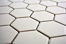 Mosaïque céramique hexagone gris clair non vitré bain 11B-0203-R10_b   1 plaque