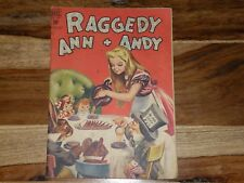 Raggedy Ann and Andy #28 ~ 1948, Dell ~ ALICE IN WONDERLAND ISSUE ~ HTF & RARE