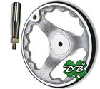 "6"" All-Metal Milling Lathe Machine Hand wheel Chrome Clad Rotating Handle"