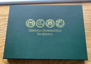 2014 MEXICO $100 PESOS  HERENCIA NUMISMATICA 6 PCS COINS SET BRASS-SILVER PROOF