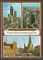 Postcard Germany Berlin Kaiser Wilhelm Memorial Church - posted 1996