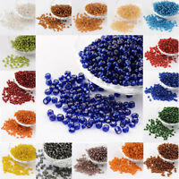 50g Round 6/0 Silver Lined Round Hole Glass Seed Beads 4mm Beading DIY Findings
