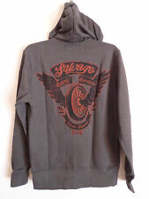 Men's Salvage Brand Clothing charcoal gray indy zipper Hoodie jacket SZ S NWT