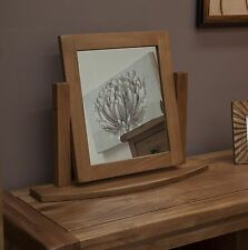 Brooklyn solid oak bedroom furniture dressing table swivel mirror